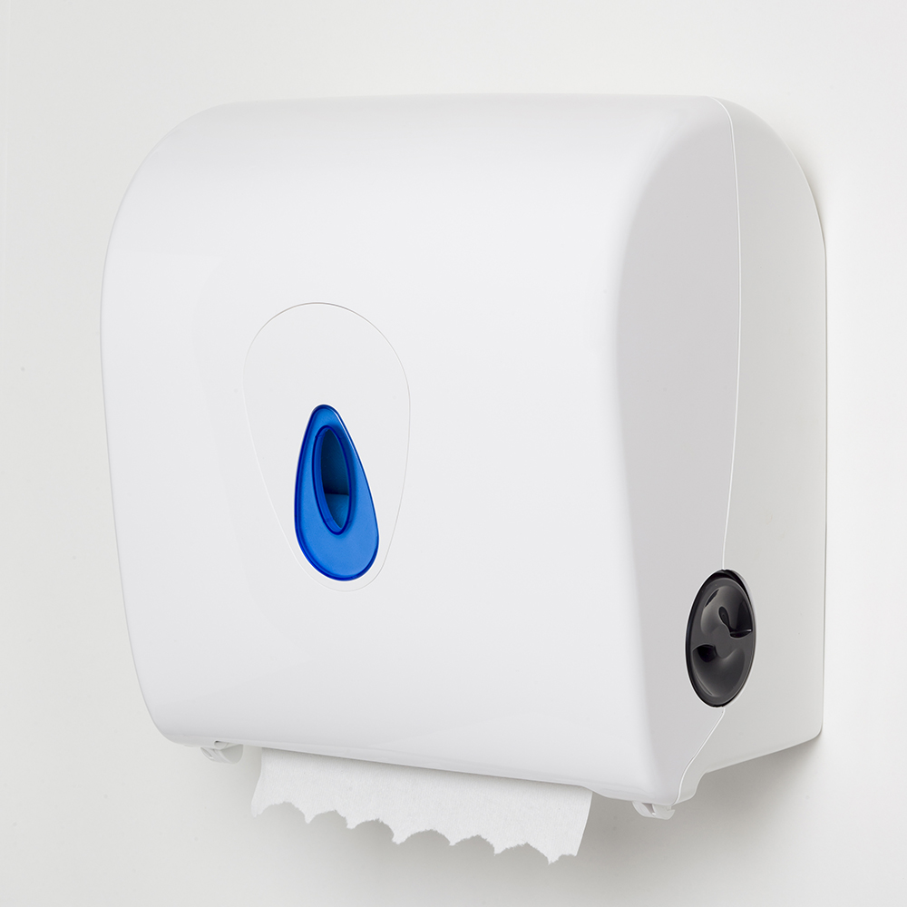 Autocut roll towel dispenser